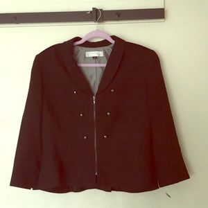 Tahari zip up jacket